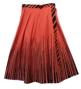 Wrap Skirt - Piano Print (Red) - CeCe Fashion Boutique