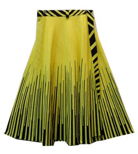 Wrap Skirt - Piano Print (Yellow) - CeCe Fashion Boutique