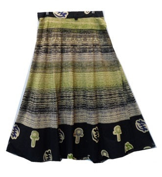 Wrap Skirt - Brush Print (A) - CeCe Fashion Boutique