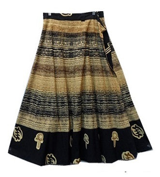 Wrap Skirt - Brush Print (B) - CeCe Fashion Boutique