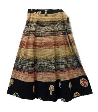 Wrap Skirt - Brush Print (C) - CeCe Fashion Boutique
