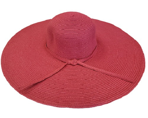 Oversized Solid Wide Brim Hat - Pink - CeCe Fashion Boutique