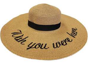 """Wish You Were Here"" Floppy Hat - Natural - CeCe Fashion Boutique"