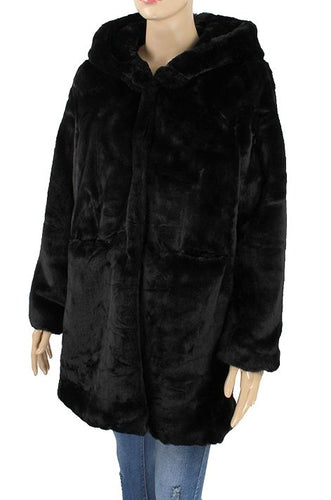 Faux Fur Coat - Black - CeCe Fashion Boutique
