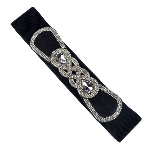 Elastic Rhinestone Belt - CeCe Fashion Boutique