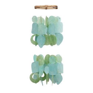 Capiz Chime Tide Pool Teal