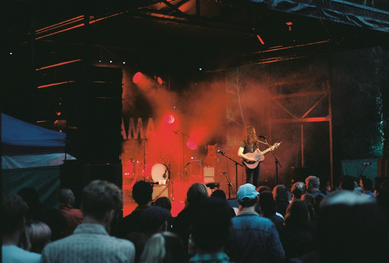 Kurt Vile performing in Tasmania at a festival called Panama