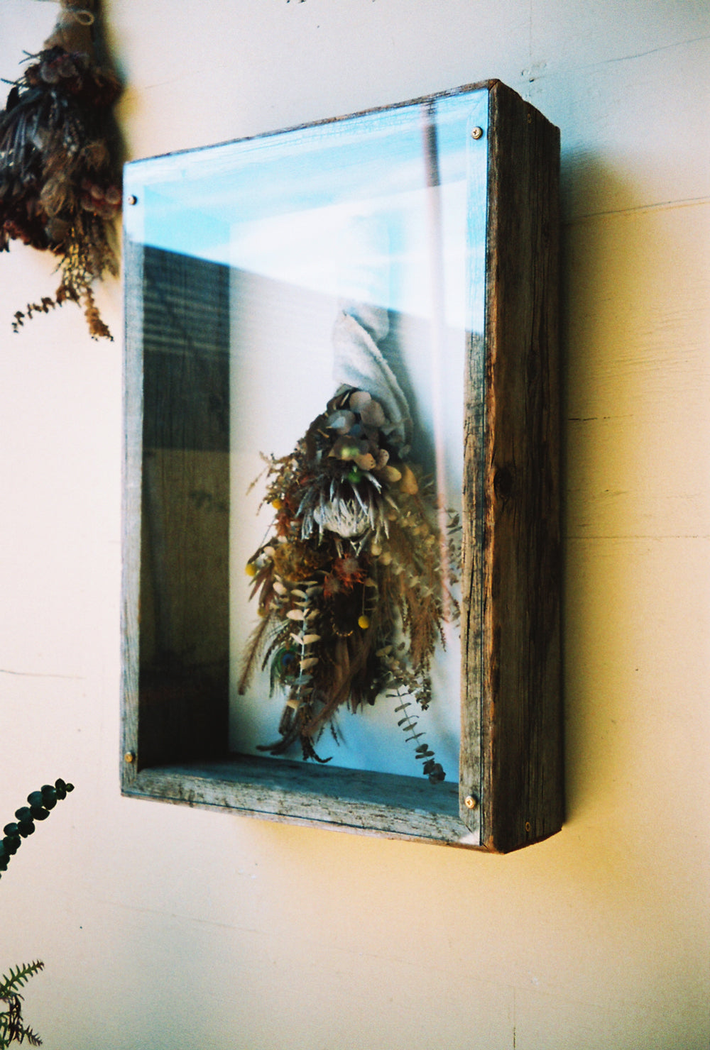 Dried flower art by The Unlikely Florist