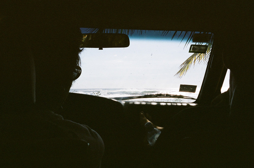 Jared Mell looking out the windshield in Costa Rica