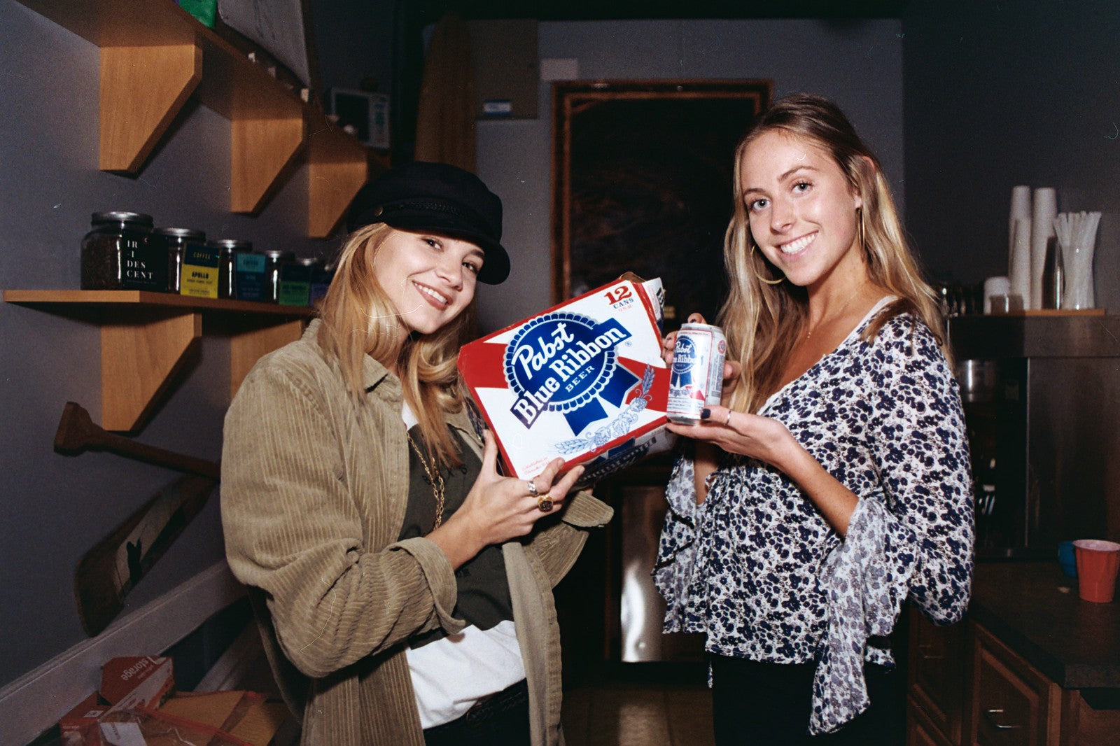 Annex Surf Supply Girls with a case of PBR