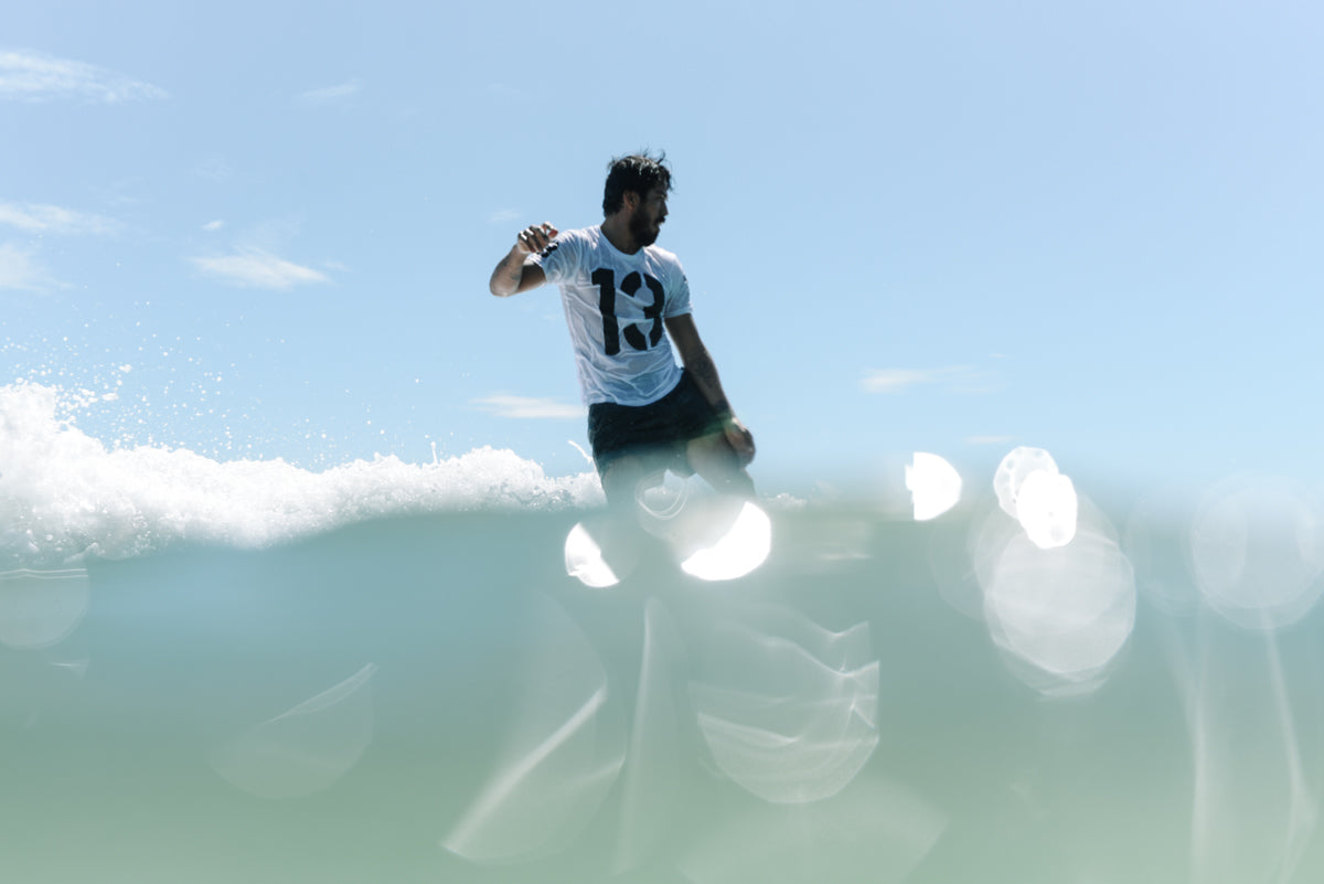 Jared Mell at the McTavish Trim 18 Surf Event in Byron Bay