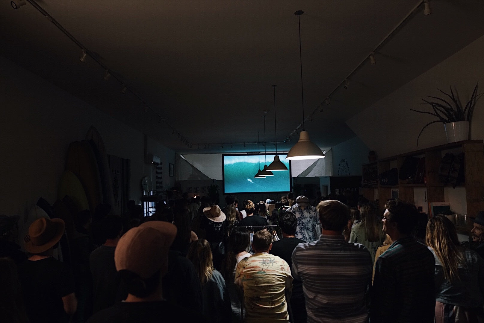 photo of the film premiere of the banks journal Kahana Kalama video at aloha beach club