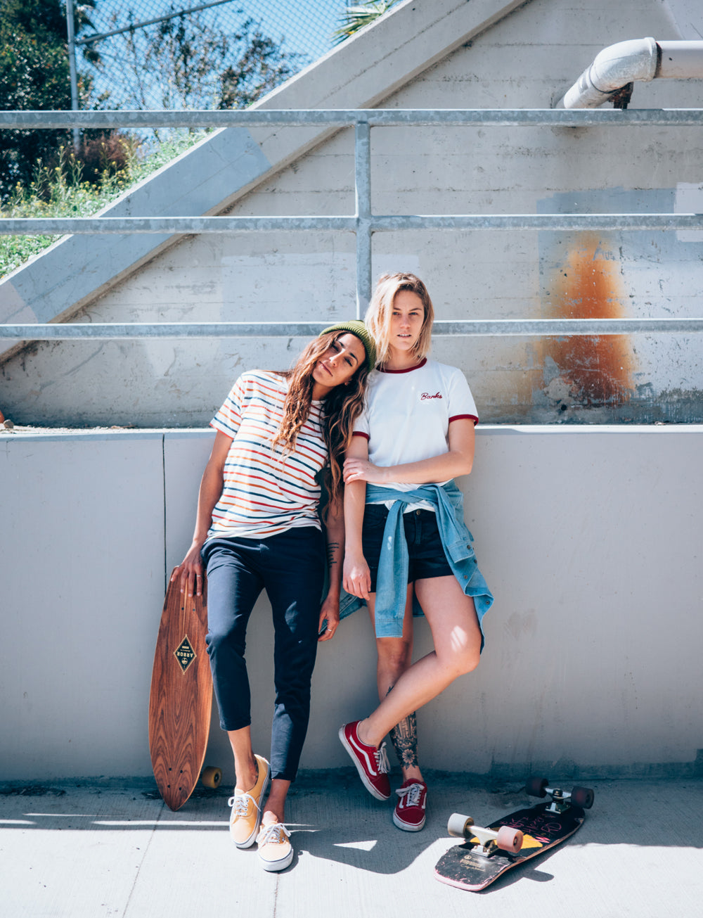 The skater girls wearing Banks Journal clothing