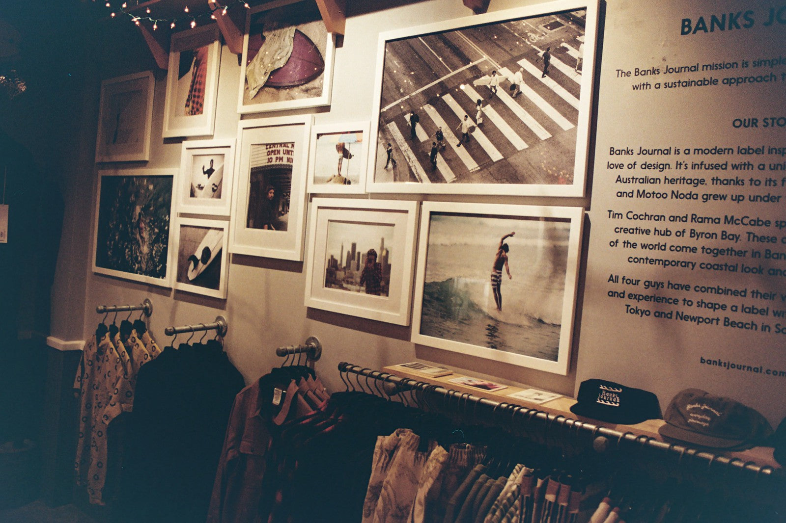 Photo of the Holiday pop up by Banks Journal at Annex Surf Supply