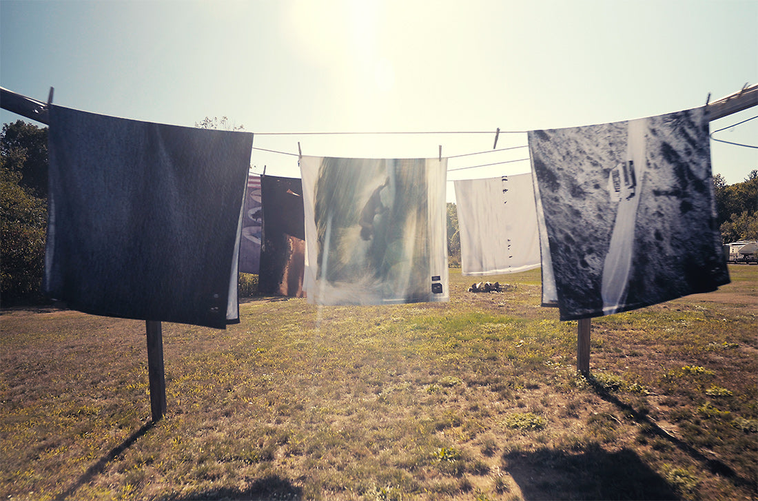 Banks x Slowtide Towel Collaboration - Towels on a clothesline