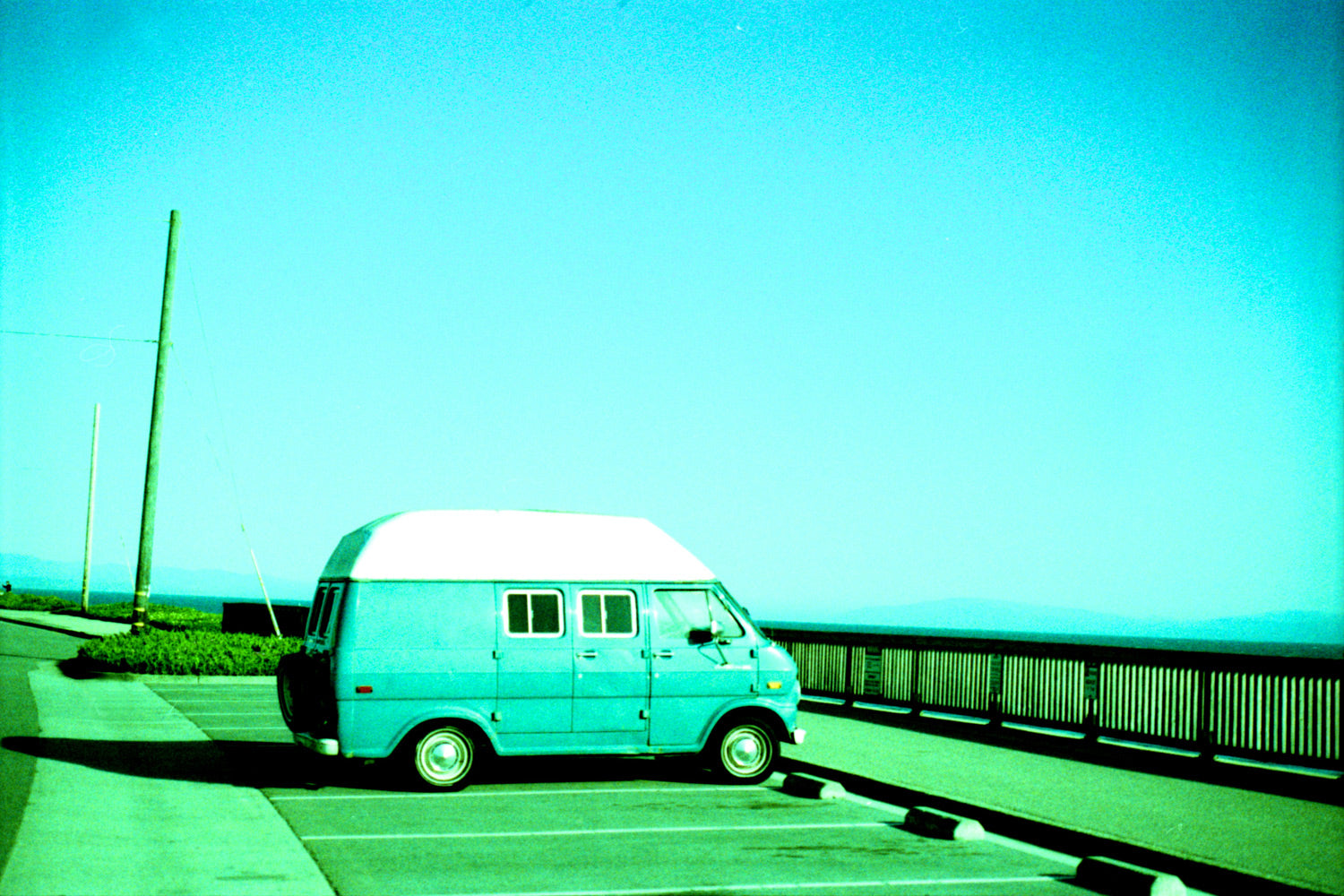 Photo of vintage VW bus surf van by Ryan Tatar
