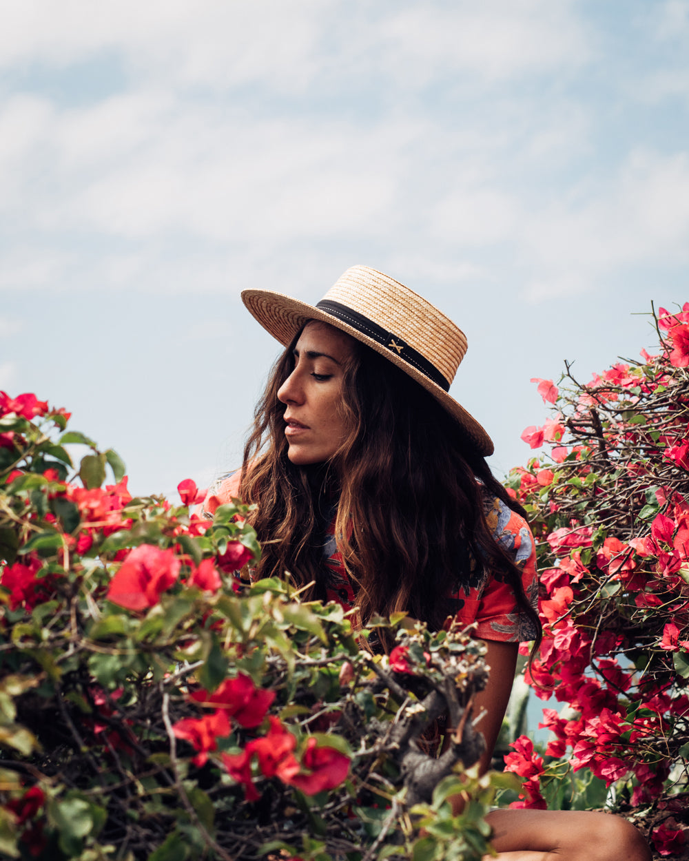 Surfer Lex Weinstein in Banks Journal amongst some flowers