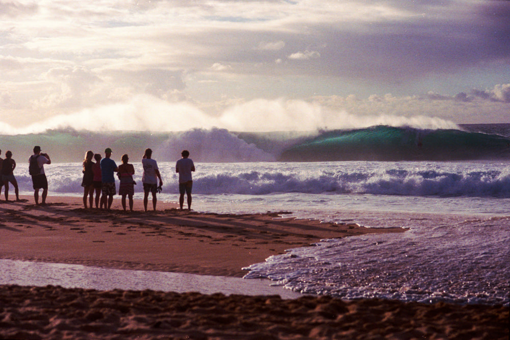 sunset pipeline photo by John Hook