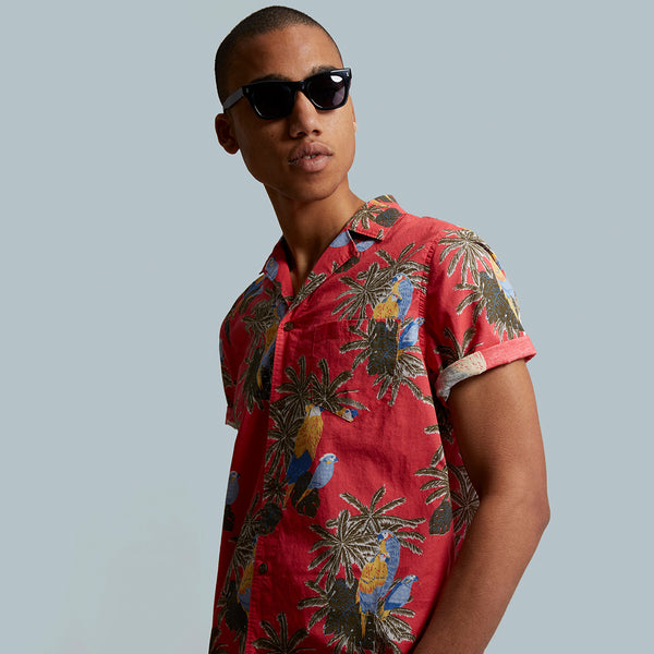 Mens Macaw Woven Shirt - BANKS JOURNAL Woven Shirt