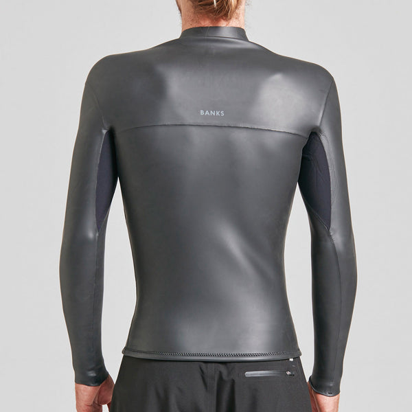 Mens One Front Zip Jacket Wetsuit - BANKS JOURNAL Wetsuit