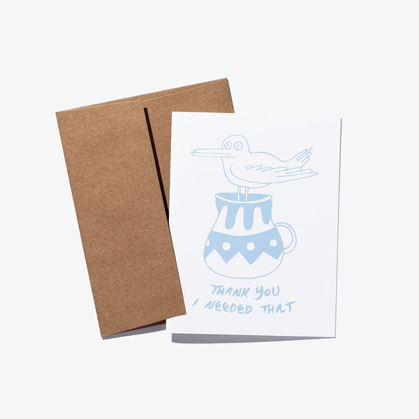 "Mens Ty Williams ""THANK YOU"" Greeting Card - BANKS JOURNAL Greeting Card"
