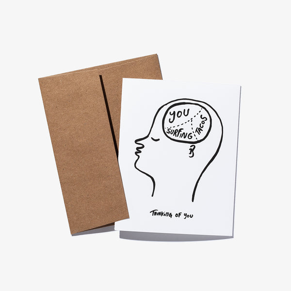 "Mens Ty Williams ""THOUGHTS"" Greeting Card - BANKS JOURNAL Greeting Card"