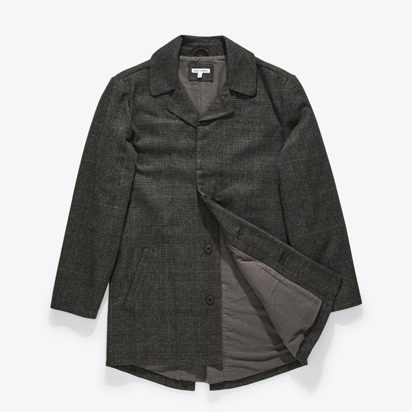 Brooklyn Plaid Trench Jacket Jacket