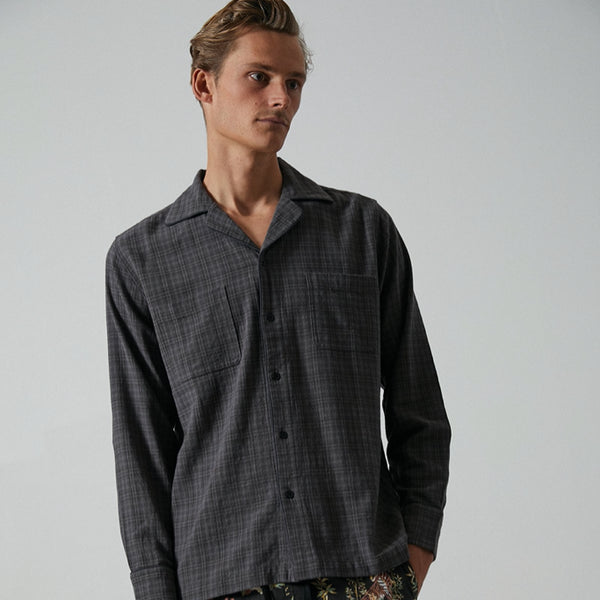 Mens Jared Mell L/S Woven Shirt - BANKS JOURNAL Woven Shirt
