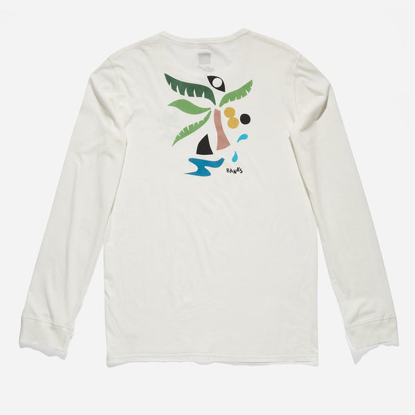 Mens Nadia Hernández Palmtrees Long Sleeve Tee Shirt - BANKS JOURNAL Tee Shirt