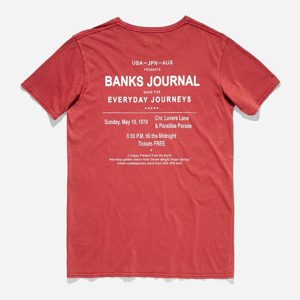 Mens Levitate Tee Shirt - BANKS JOURNAL Tee Shirt