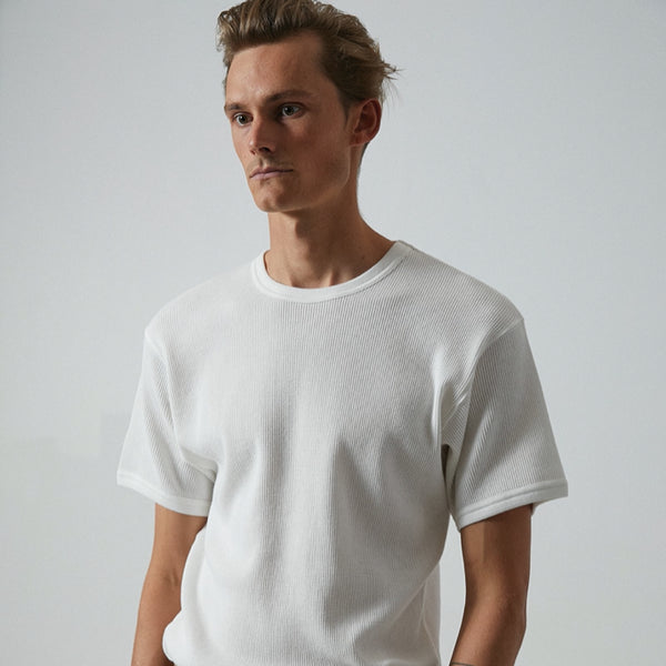 Mens Jared Mell Waffle Tee Shirt - BANKS JOURNAL Tee Shirt