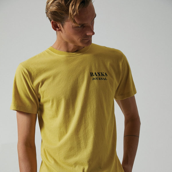 Mens Jared Mell Label Tee Shirt - BANKS JOURNAL Tee Shirt