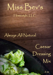 All Natural Caesar Dressing Mix