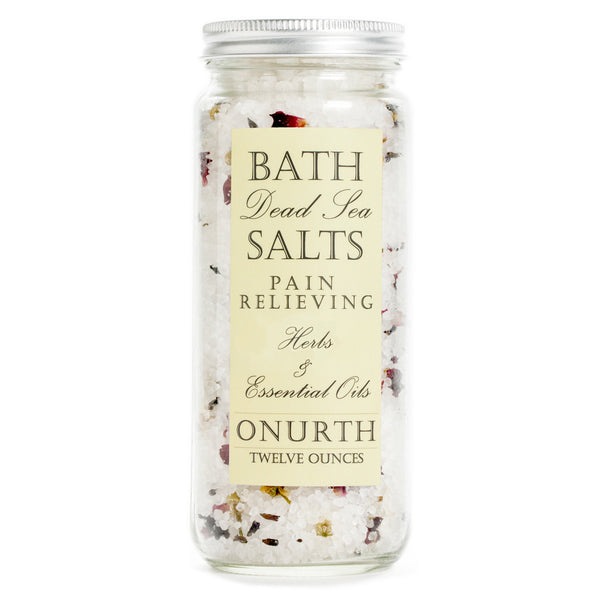 Pain Relieving Herbal Bath Dead Sea Salts Soak with Eucalyptus - Onurth Skincare