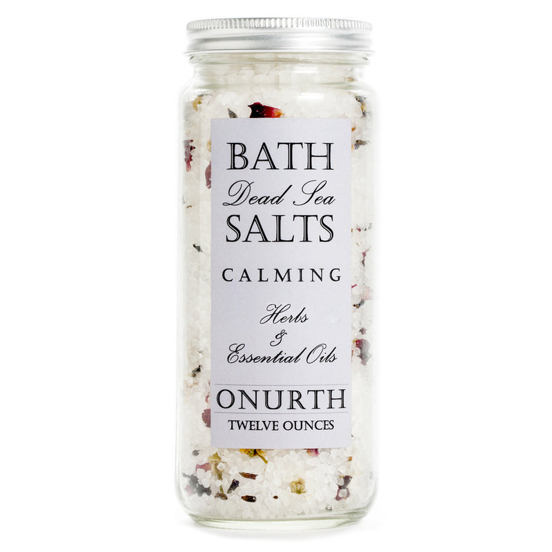 Calming Herbal Bath Dead Sea Salts Soak with Lavender - Onurth Skincare