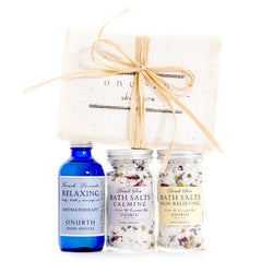 The Bath Soaks & Lavender Oil Gift Set - Onurth Skincare