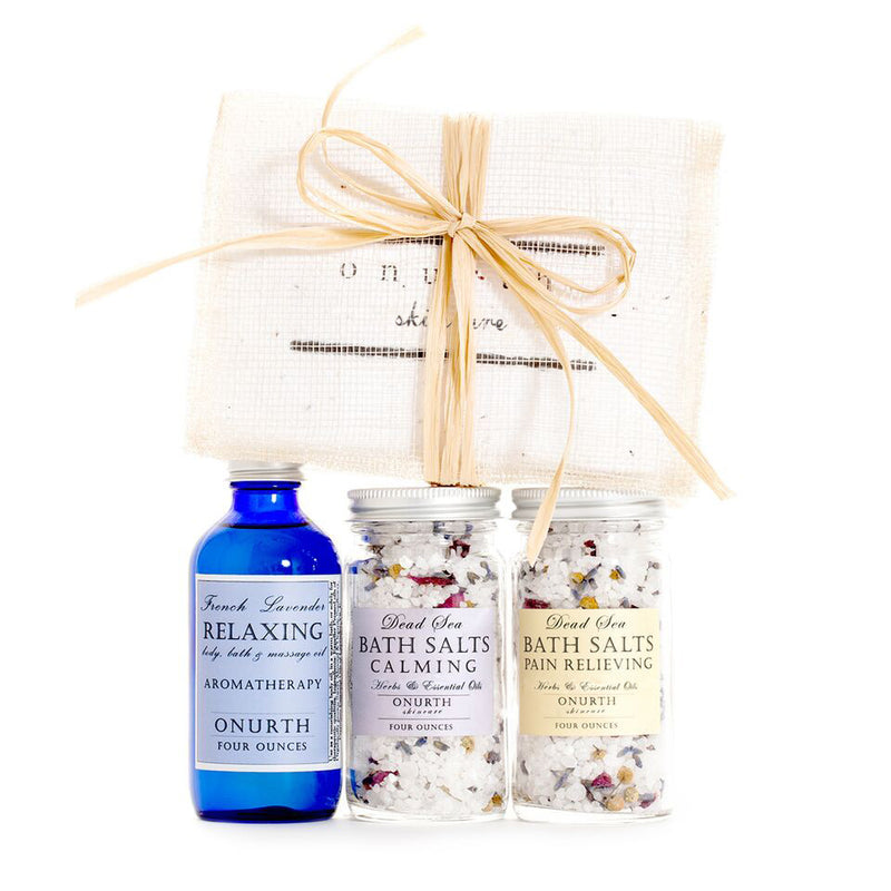 The Bath Soaks & Lavender Oil Gift Set
