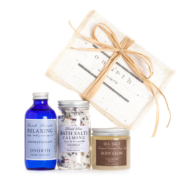 Three Favorites Gift Set with Body Glow Scrub - Onurth Skincare