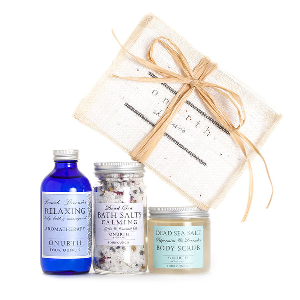 Three Favorites Gift Set with Peppermint & Lavender Body Scrub - Onurth Skincare