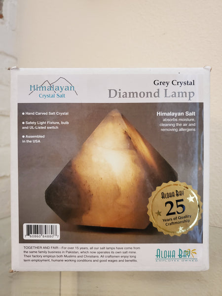 Grey Pyramid Himalayan Salt Lamp