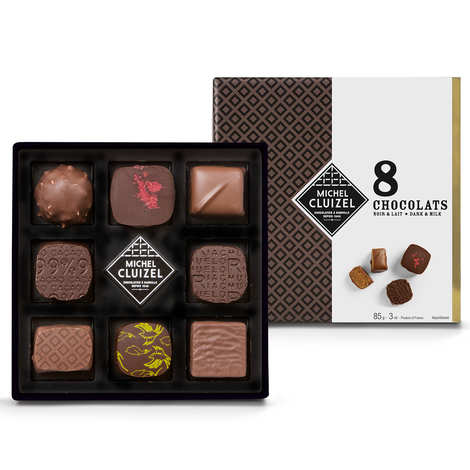 Michel Cluizel - 8 Dark & Milk Chocolates 85g