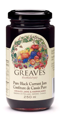 Greaves - Black Currant Jam 250mL