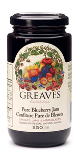 Greaves Blueberry Jam 250mL