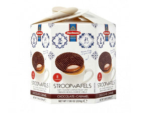 Daelmans - Chocolate Caramel Stroopwafels Hexagonal Box 224g