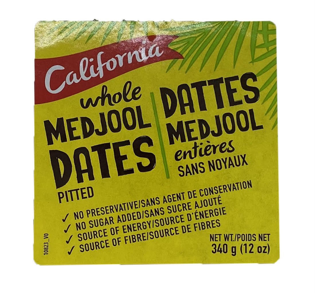 California - Whole Pitted Medjool Dates 340g