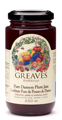 Greaves Damson Plum Jam 250mL