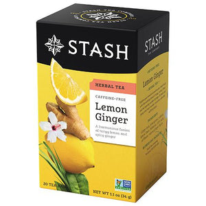 Stash Tea - Lemon Ginger Herbal Tea 34g (20 Tea Bags)