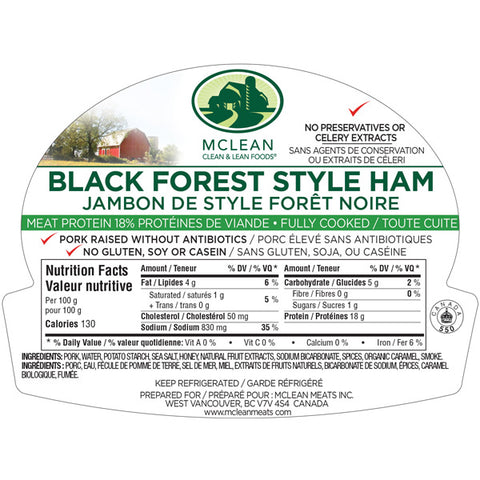 Mcleans Black Forest Ham