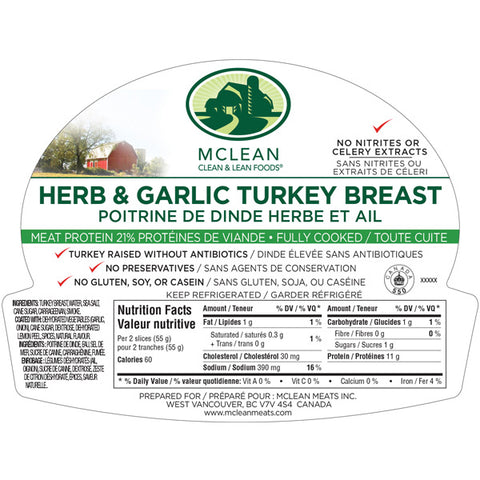 Mcleans Garlic and Herb Turkey