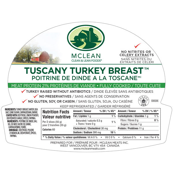 Mcleans Tuscany Turkey 200g